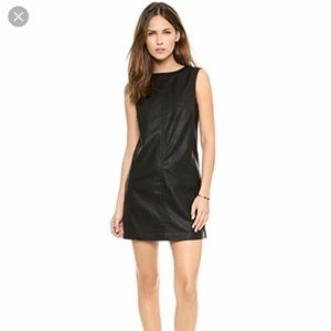 BB Dakota Black Vegan Leather Dress, Size M
